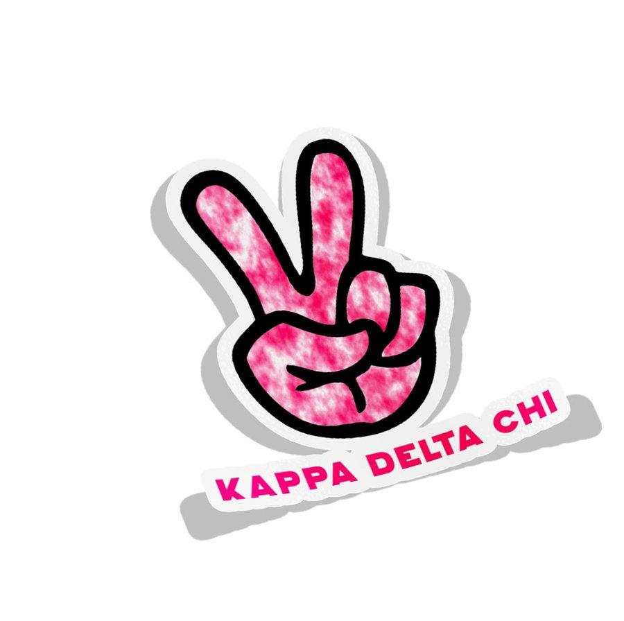 Kappa Delta Chi Peace Hands Decal Sticker