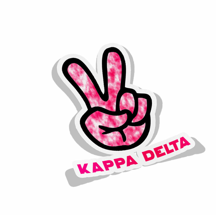 Kappa Delta Peace Hands Decal Sticker