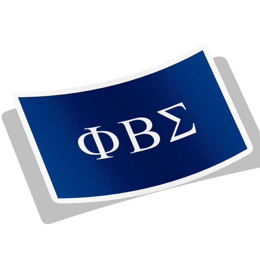 Phi Beta Sigma Flag Decal Sticker
