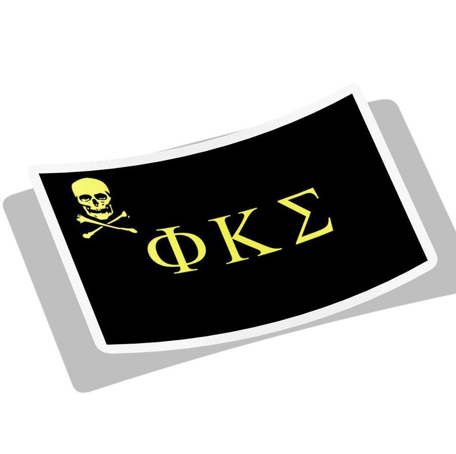 Phi Kappa Sigma Flag Decal Sticker