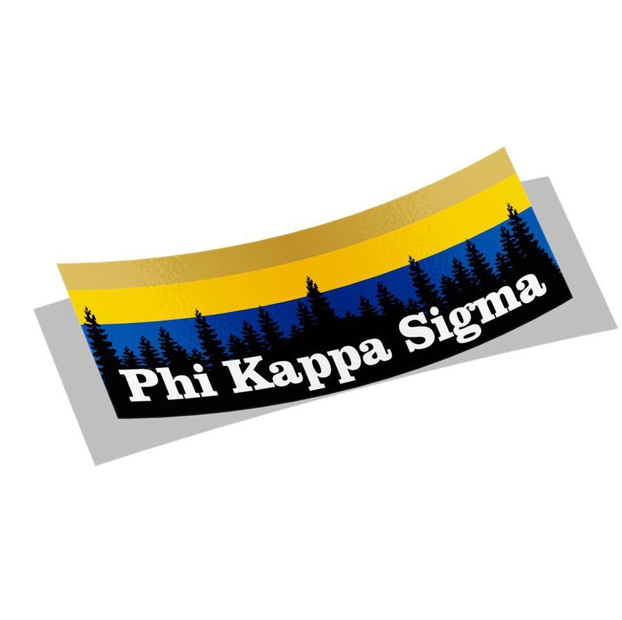 Phi Kappa Sigma Mountain Decal Sticker