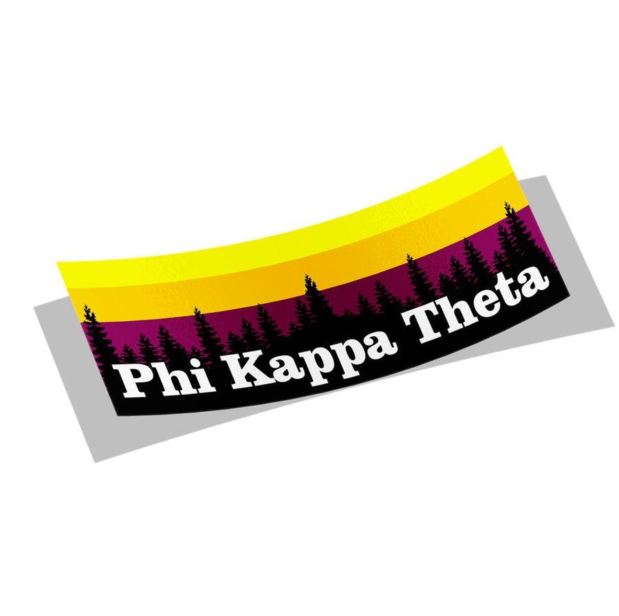 Phi Kappa Theta Mountain Decal Sticker