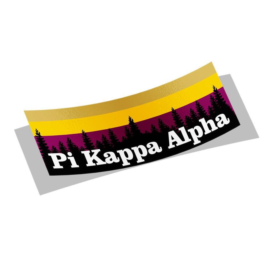 Pi Kappa Alpha Mountain Decal Sticker