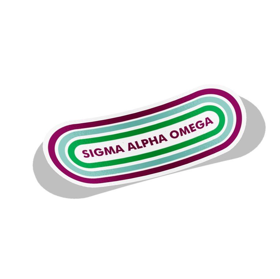 Sigma Alpha Omega Capsule Decal Sticker