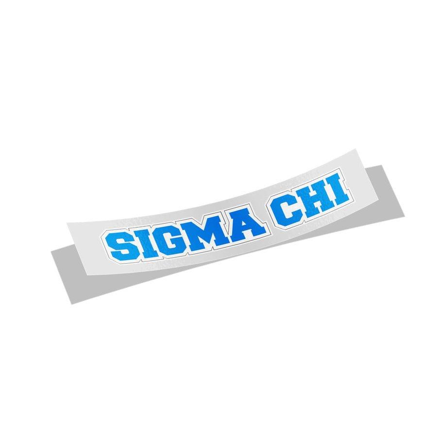 Sigma Chi Long Window Sticker