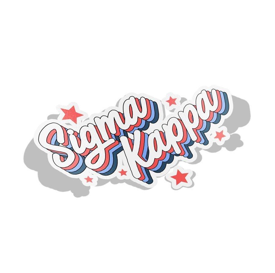 Sigma Kappa Flashback Decal Sticker