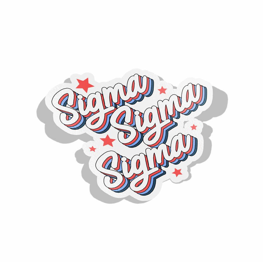 Sigma Sigma Sigma Flashback Decal Sticker