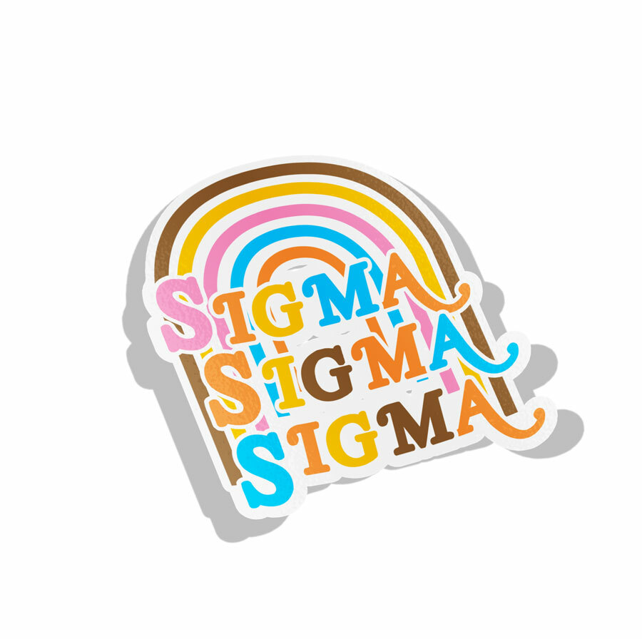 Sigma Sigma Sigma Joy Decal Sticker