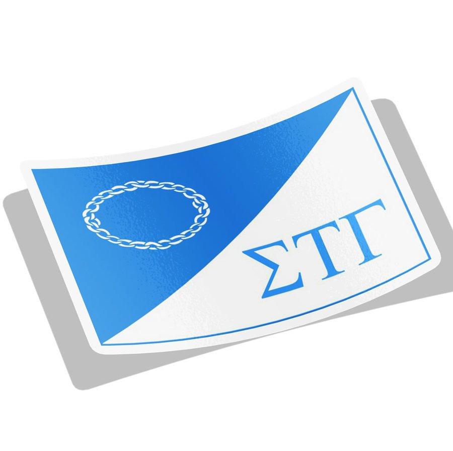 Sigma Tau Gamma Flag Decal Sticker