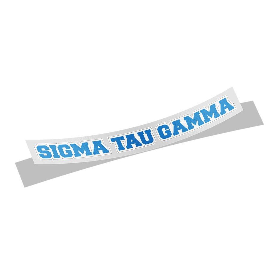Sigma Tau Gamma Long Window Sticker