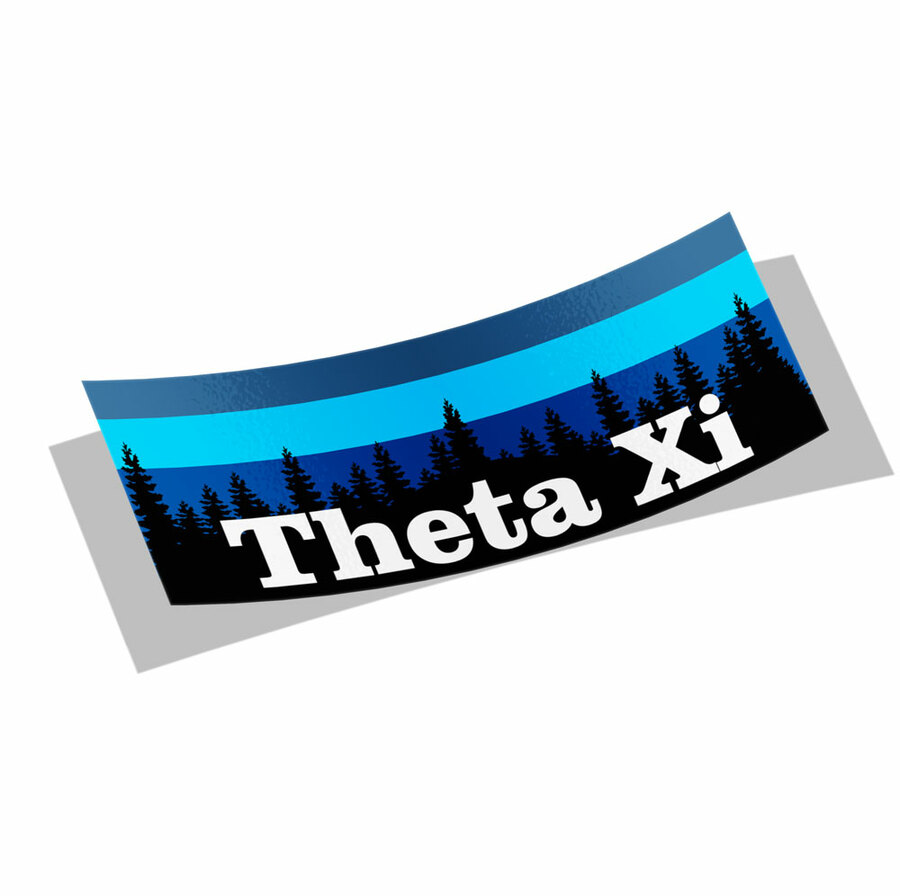 Theta Xi Mountain Decal Sticker