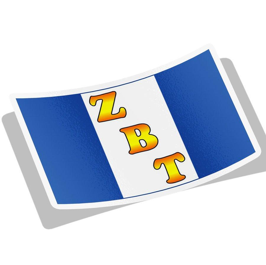 Zeta Beta Tau Flag Decal Sticker