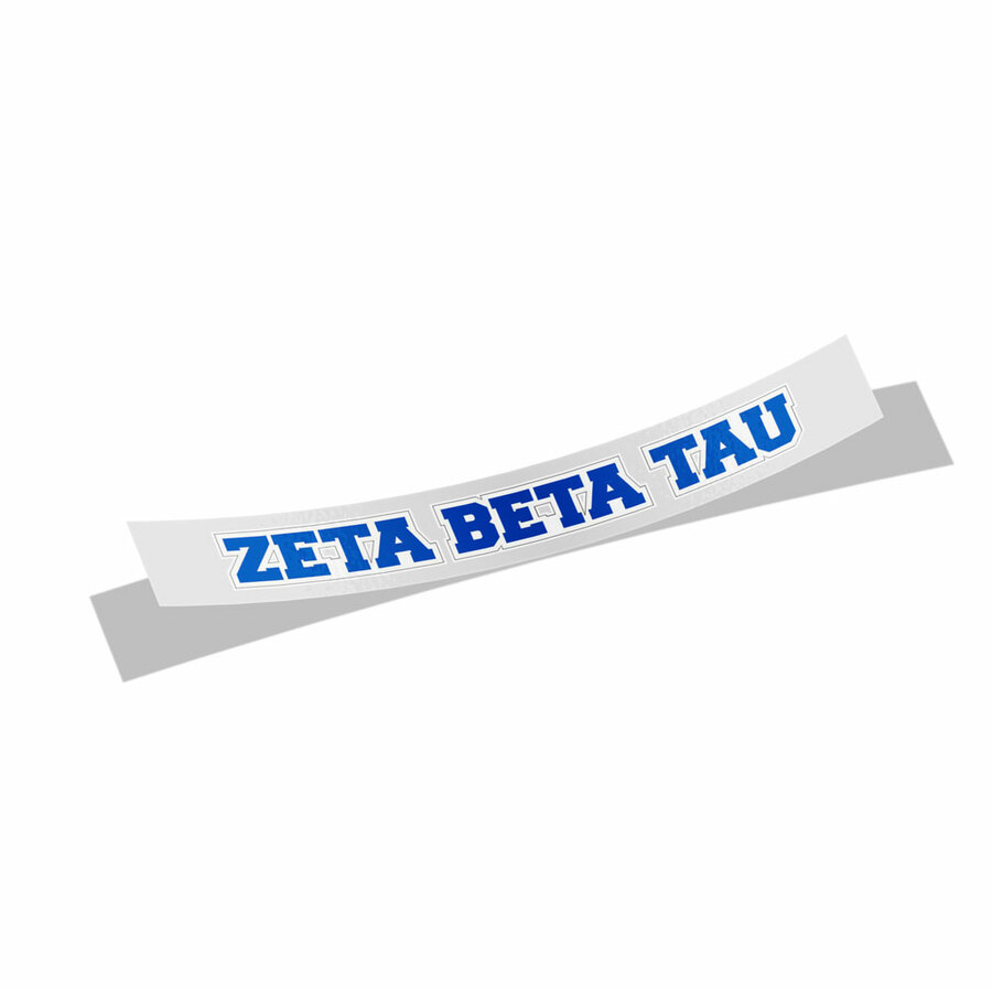 Zeta Beta Tau Long Window Sticker