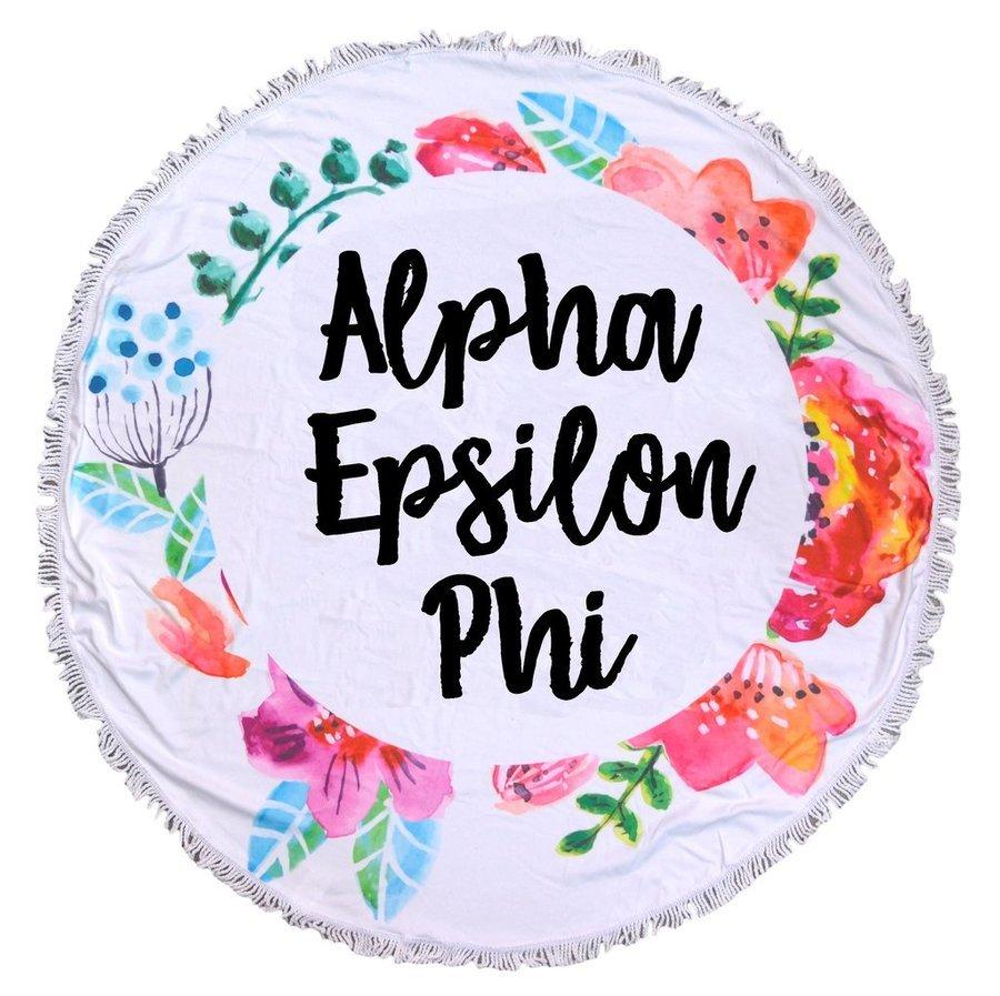 Alpha Epsilon Phi Fringe Towel Blanket