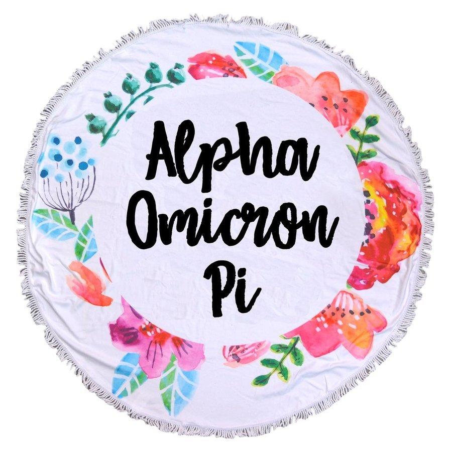 Alpha Omicron Pi Fringe Towel Blanket