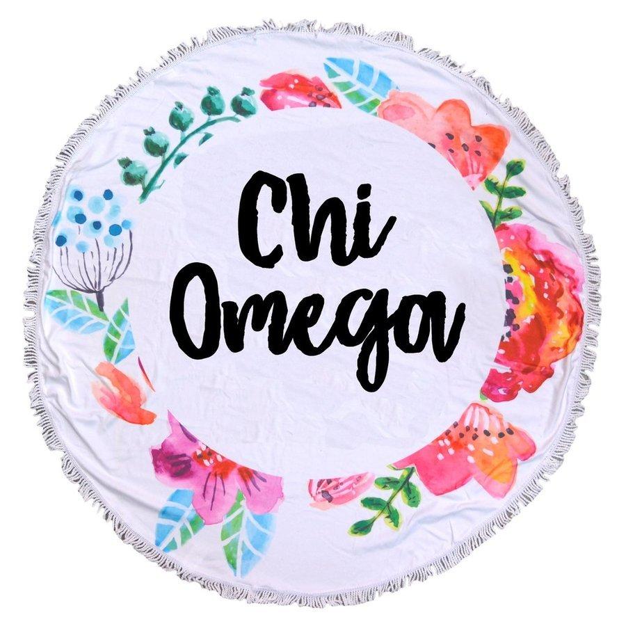 Chi Omega Fringe Towel Blanket
