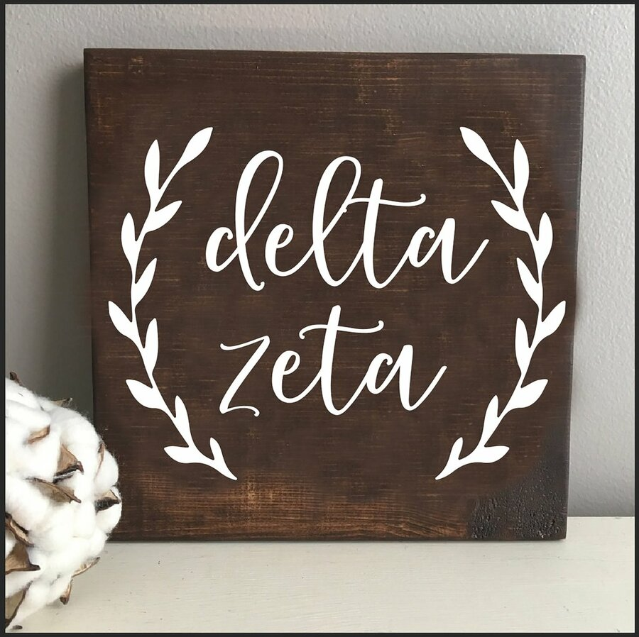 Delta Zeta Wooden Wall Art