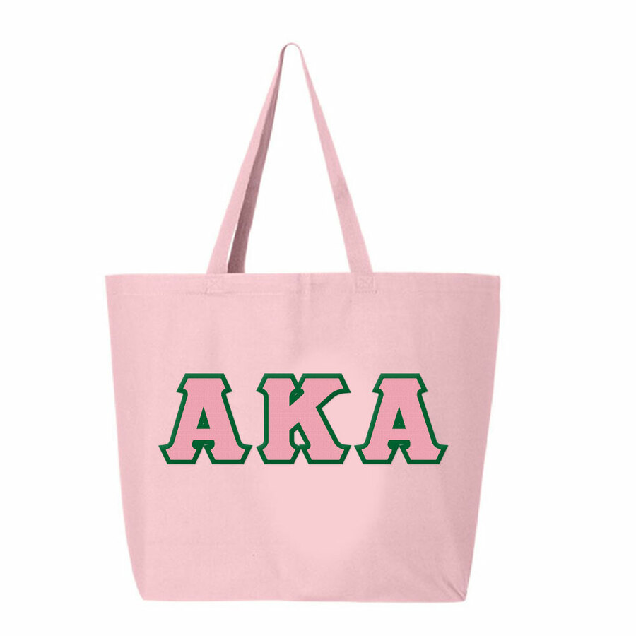 DISCOUNT- Alpha Kappa Alpha Lettered Tote Bag
