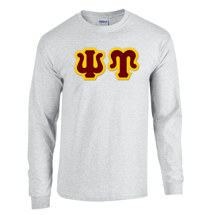 Psi Upsilon Custom Twill Long Sleeve T-Shirt