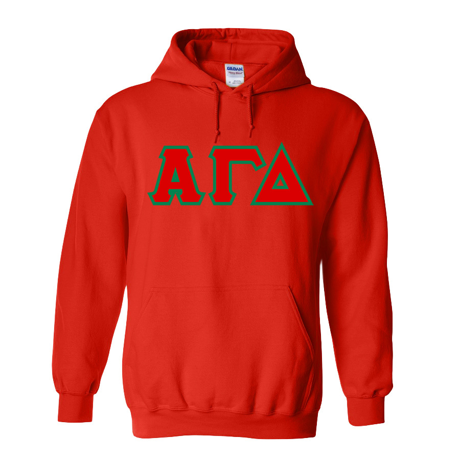 DISCOUNT Alpha Gamma Delta Lettered Hooded