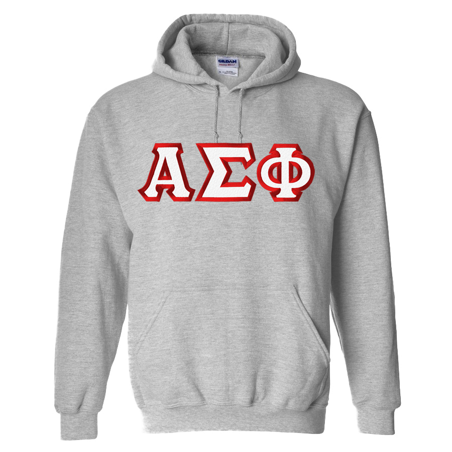 Alpha Sigma Phi Custom Twill Hooded Sweatshirt