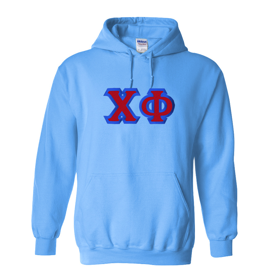 $39.99 Chi Phi Custom Twill Hooded Sweatshirt