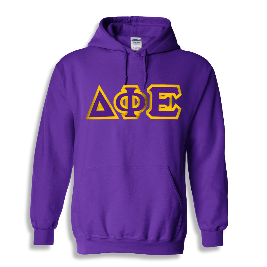 Delta Phi Epsilon Custom Twill Hooded Sweatshirt