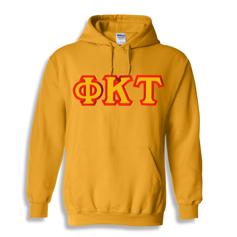 Phi Kappa Tau Custom Twill Hooded Sweatshirt
