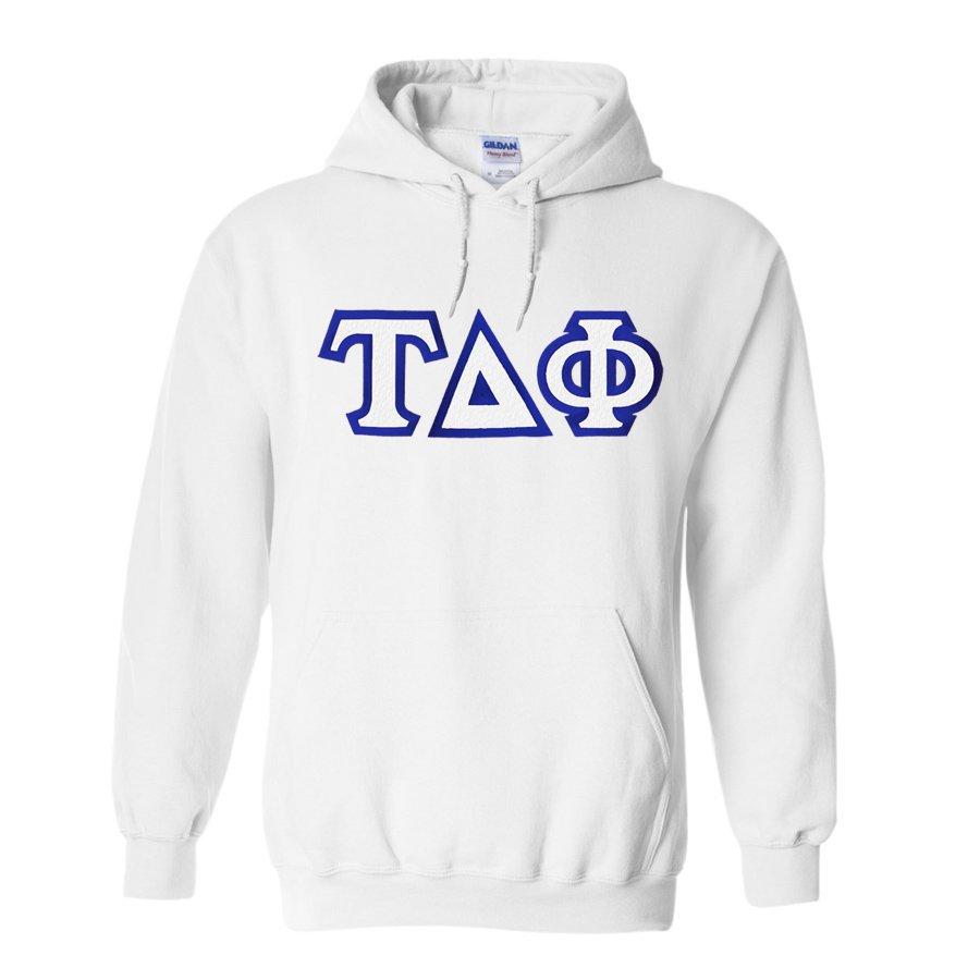 Tau Delta Phi Custom Twill Hooded Sweatshirt
