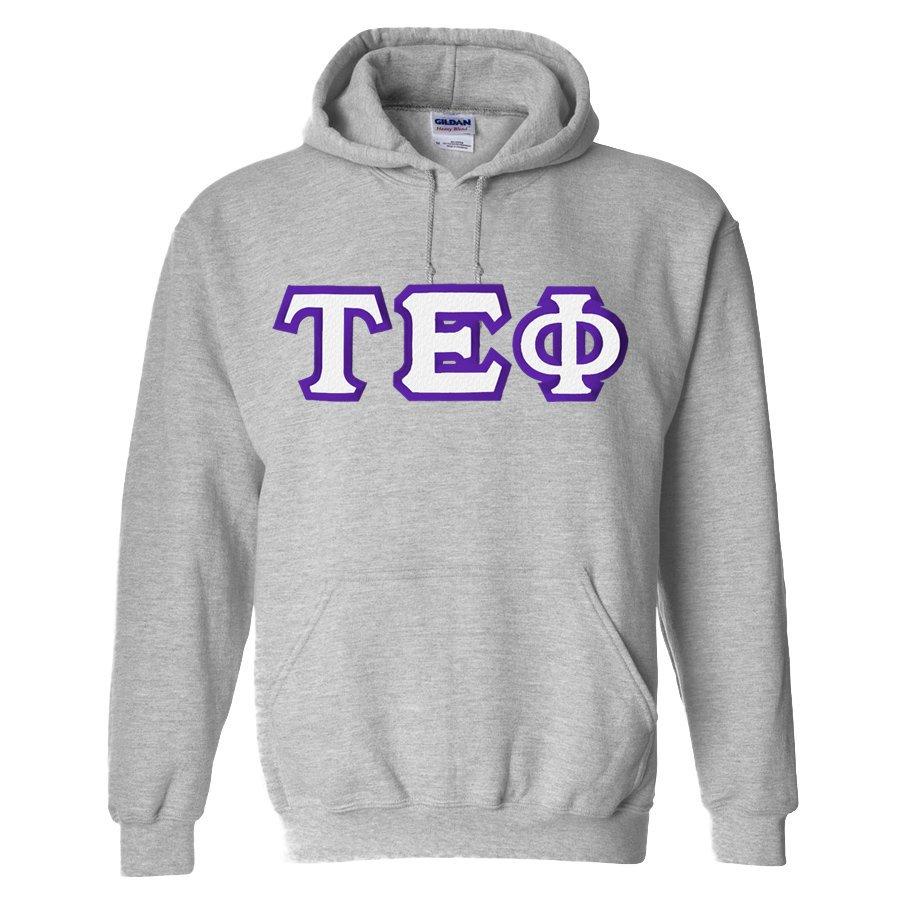 Tau Epsilon Phi Custom Twill Hooded Sweatshirt