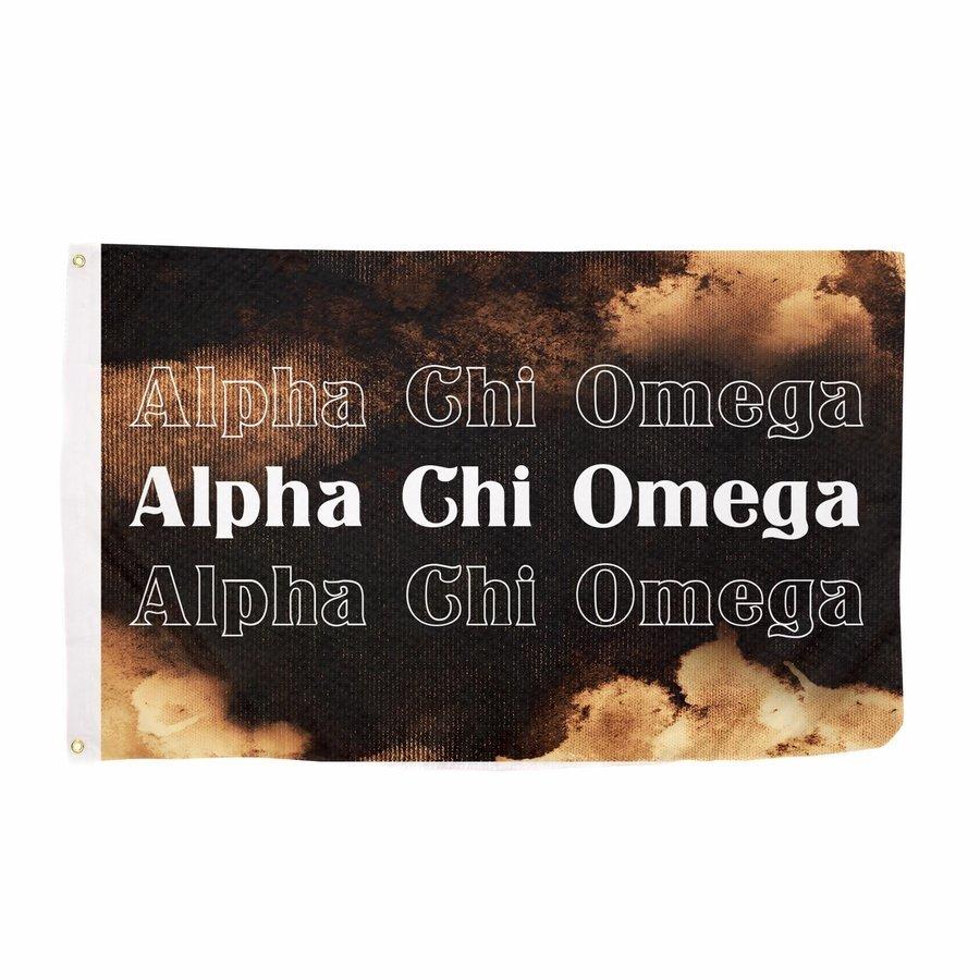 Alpha Chi Omega Bleach Wash Flag