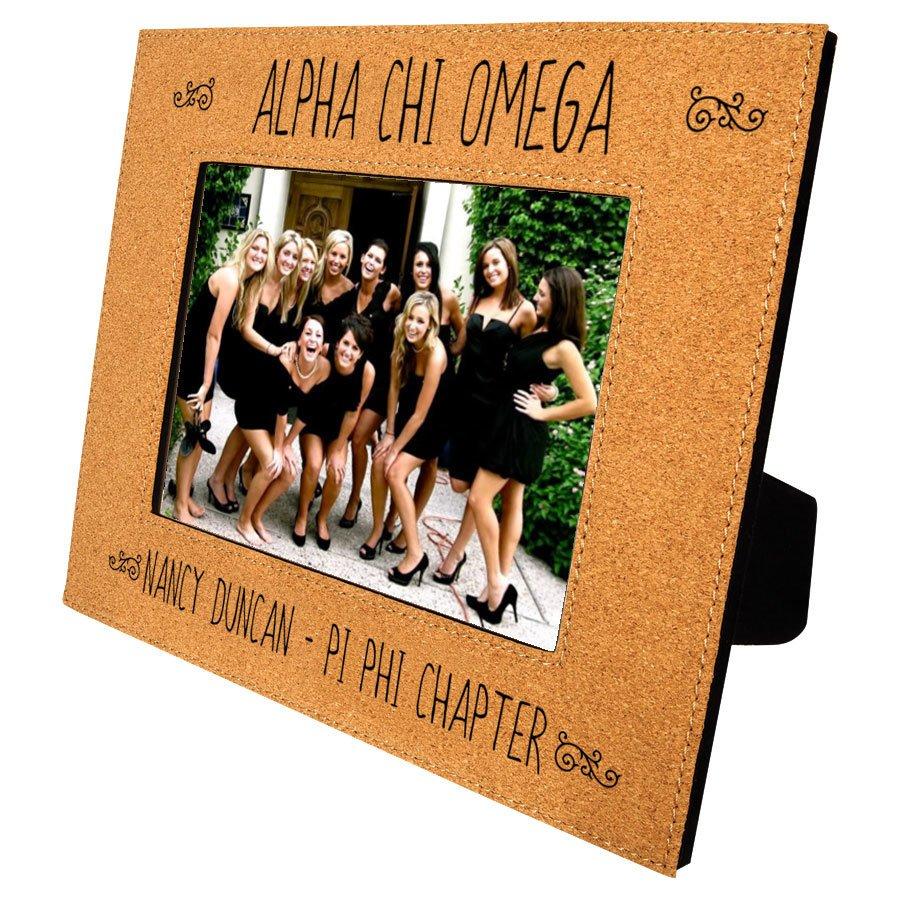 Alpha Chi Omega Cork Photo Frame