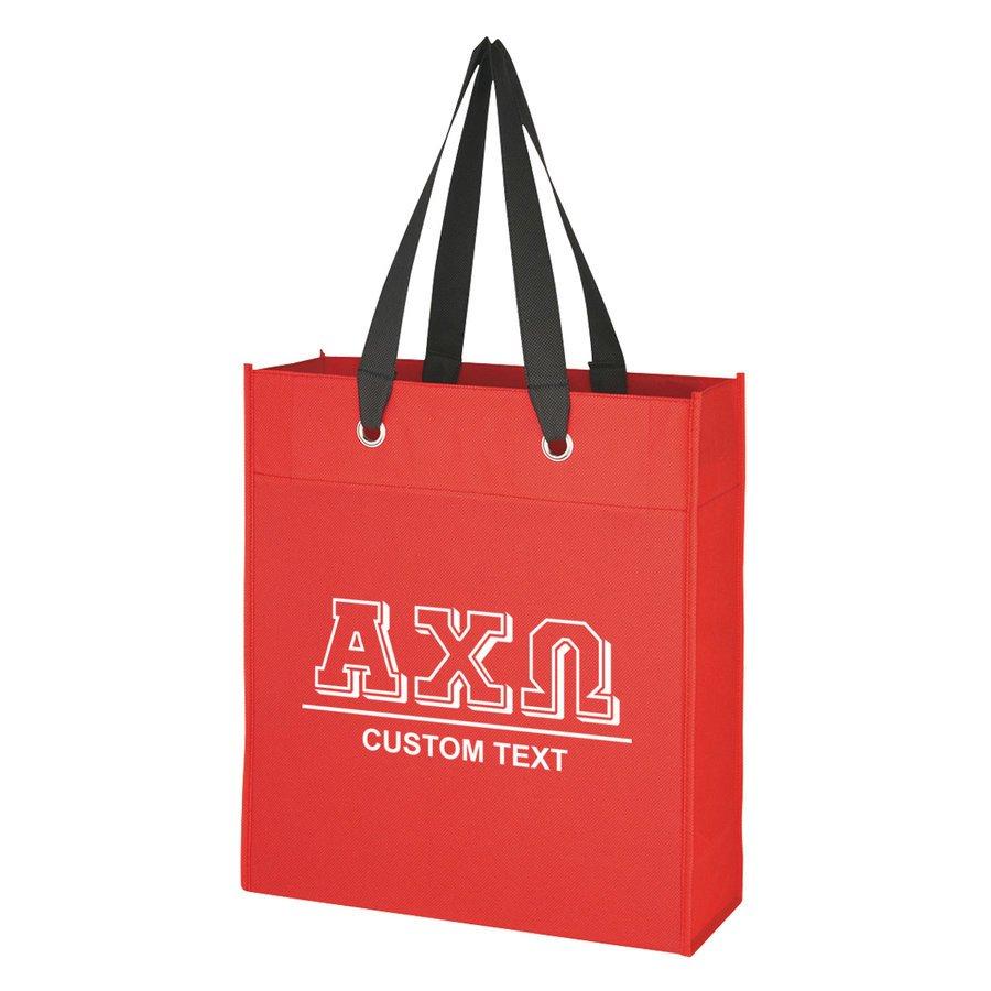 Alpha Chi Omega Grommet Tote Bag