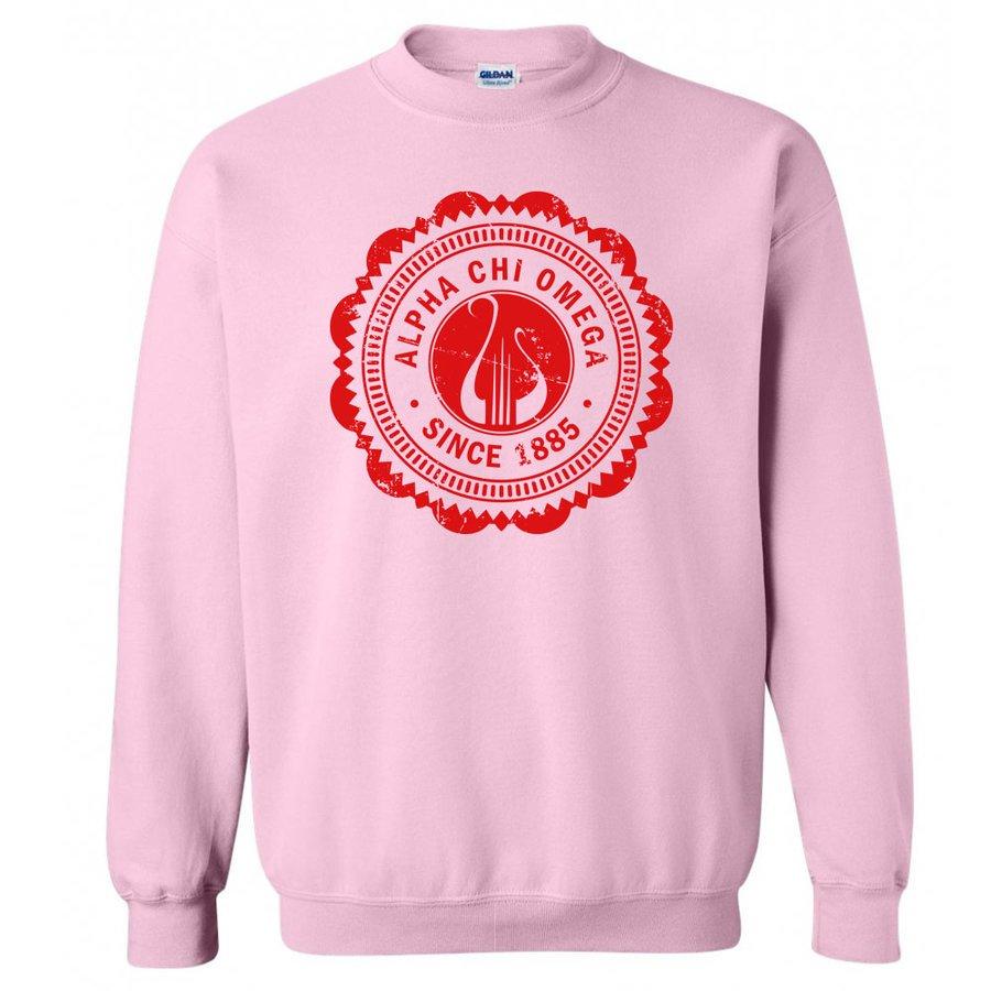 Alpha Chi Omega Seal Crewneck Sweatshirt