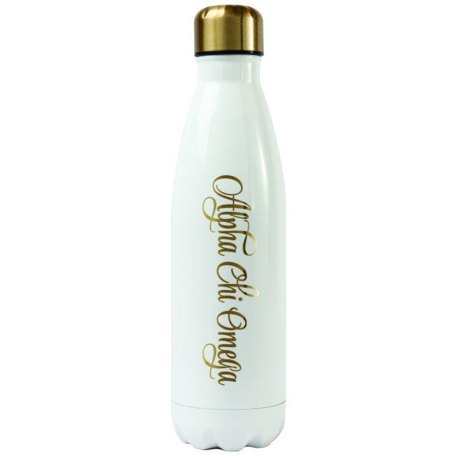Alpha Chi Omega Stainless Steel Shimmer Water Bottles
