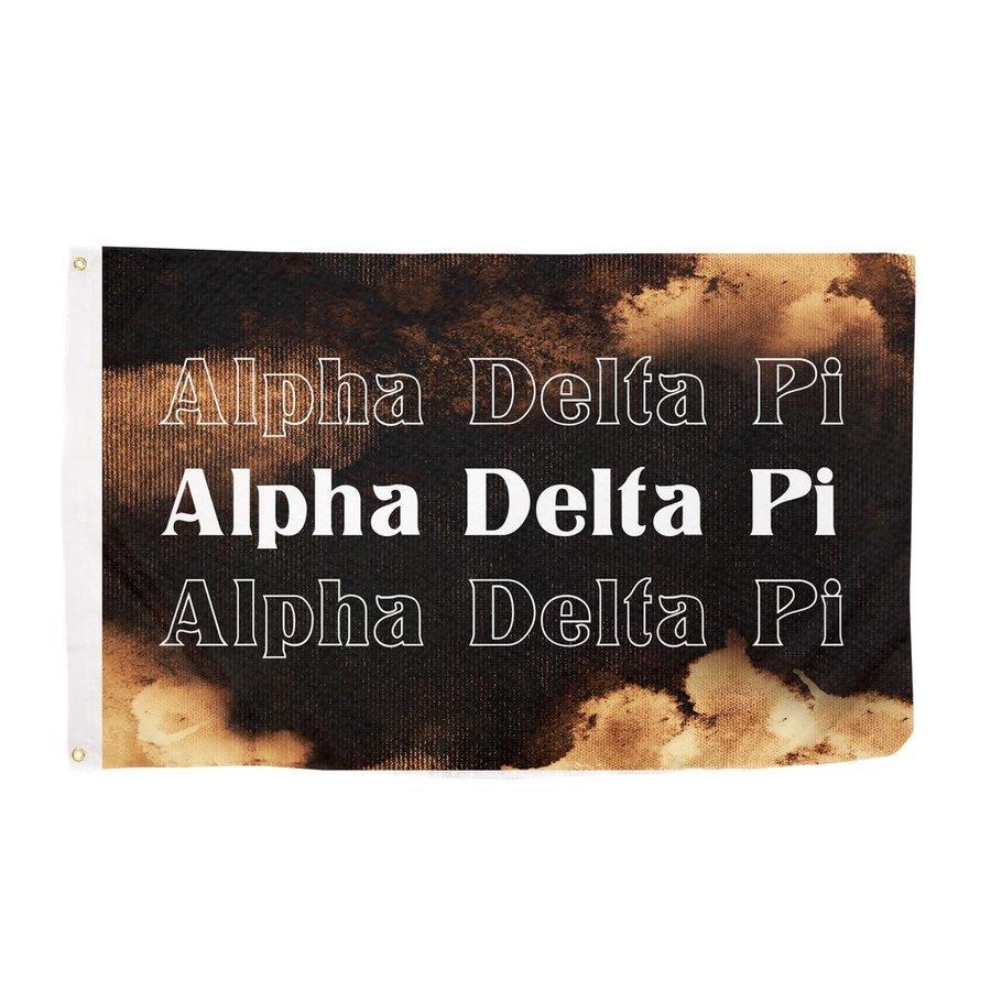 Alpha Delta Pi Bleach Wash Flag