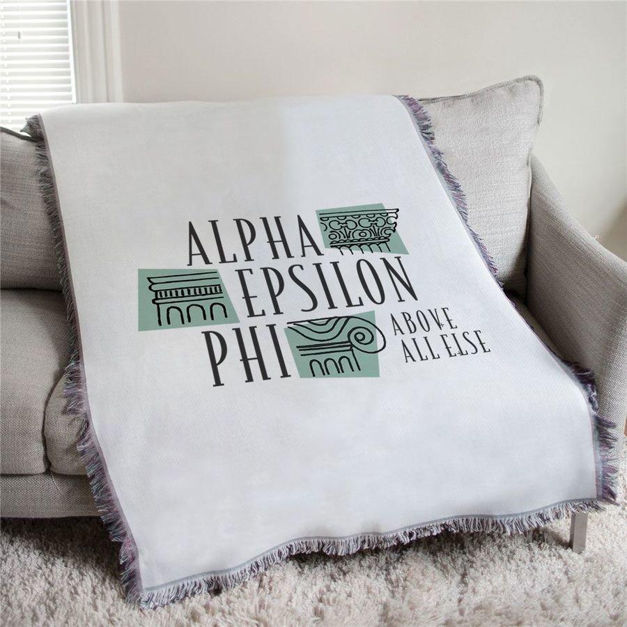 Alpha Epsilon Phi Above All Else Afghan Blanket Throw