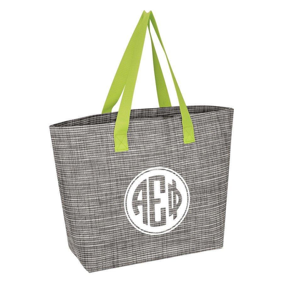 Alpha Epsilon Phi Heathered Mesh Tote Bag