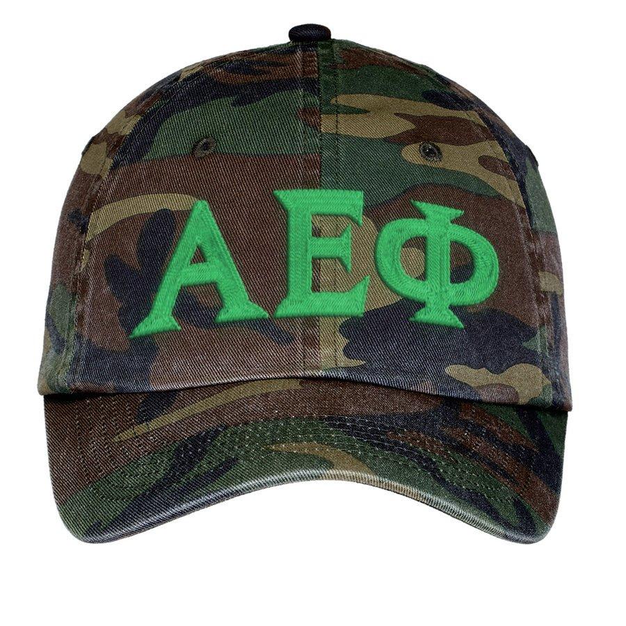 Alpha Epsilon Phi Lettered Camouflage Hat