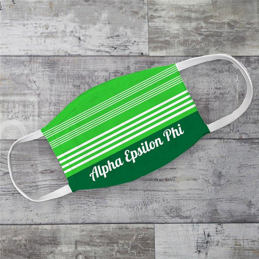 Alpha Epsilon Phi Two Tone Stripes Face Mask
