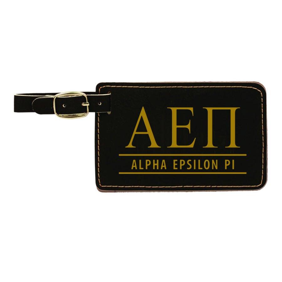 Alpha Epsilon Pi Leatherette Luggage Tag