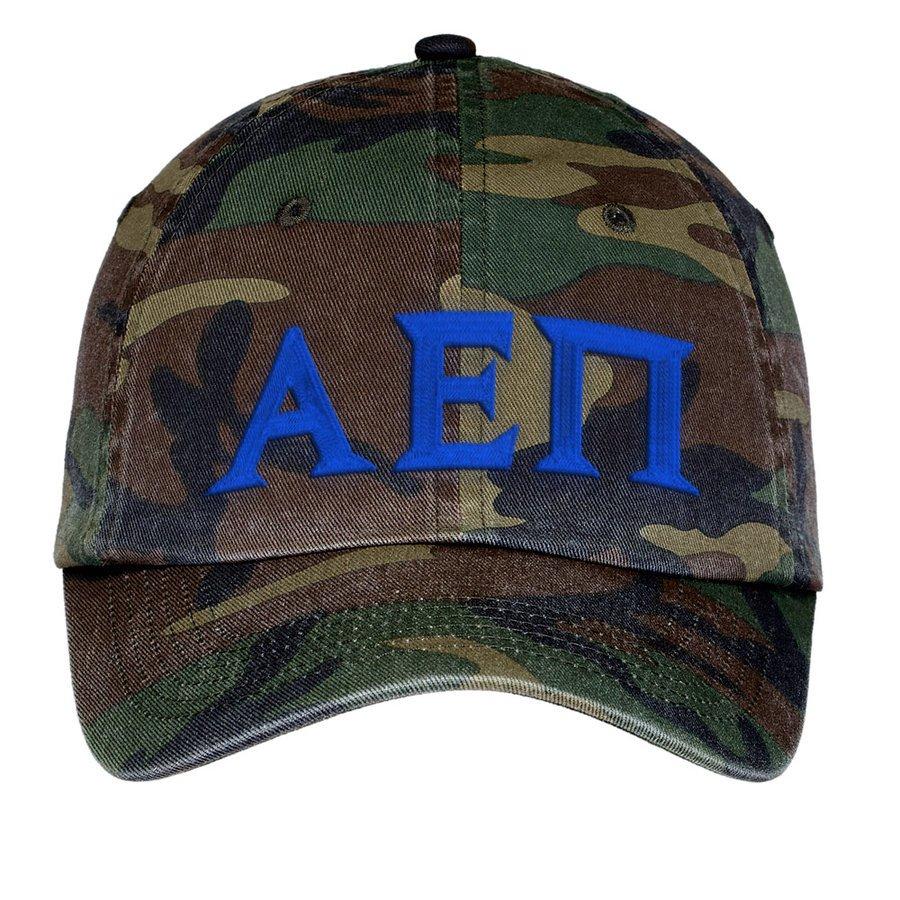 Alpha Epsilon Pi Lettered Camouflage Hat
