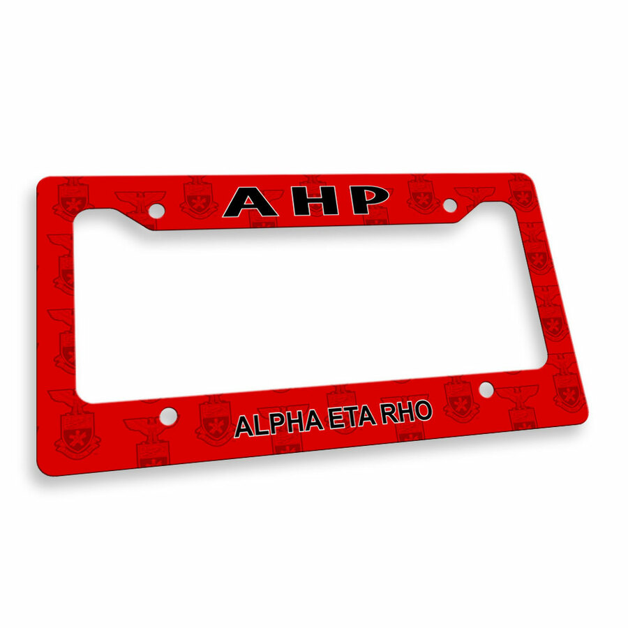 Alpha Eta Rho License Plate Frame