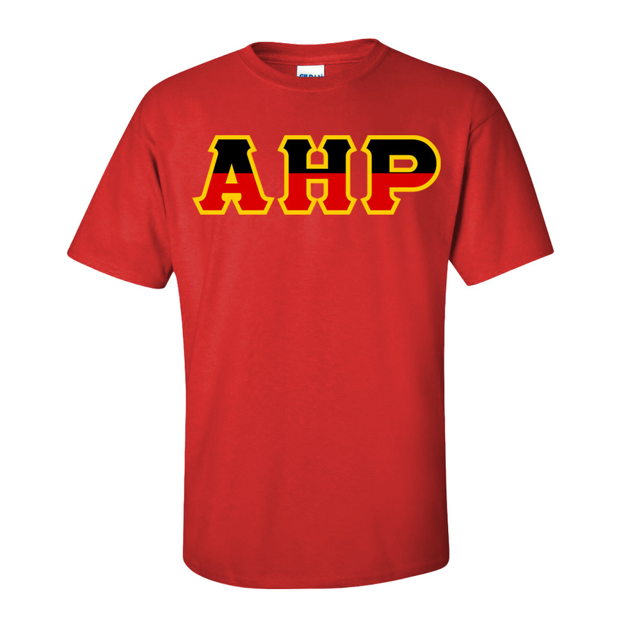 Alpha Eta Rho Two Tone Greek Lettered T-Shirt