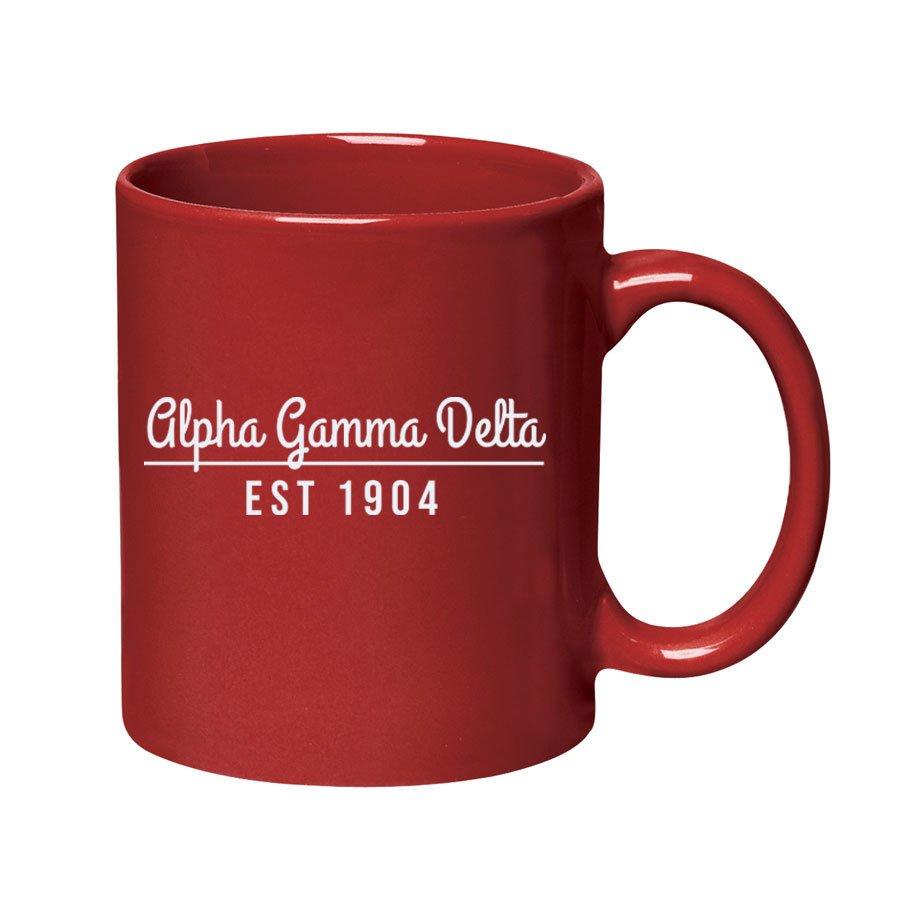 Alpha Gamma Delta 11 oz. Colored Stoneware Mug