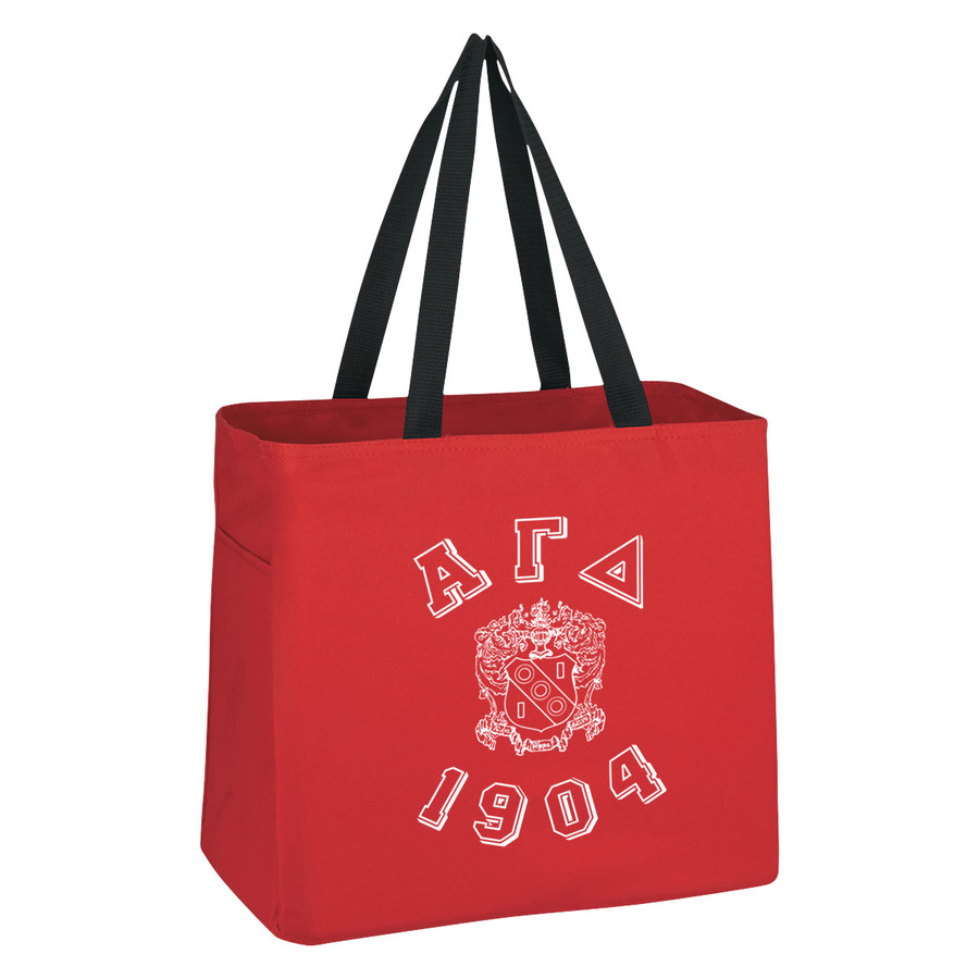 Alpha Gamma Delta Block Crest - Shield Cape Town Bag