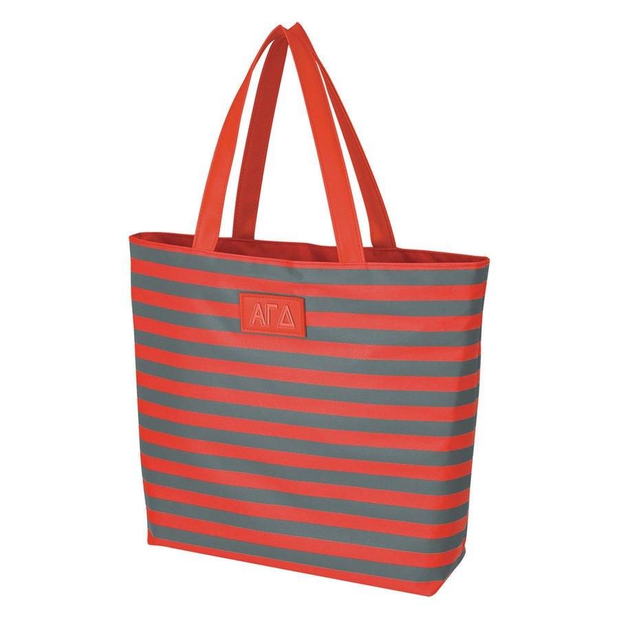 Alpha Gamma Delta Stripes Tote Bag