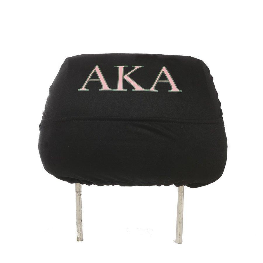 Alpha Kappa Alpha Black Car Seat Headrest Cover