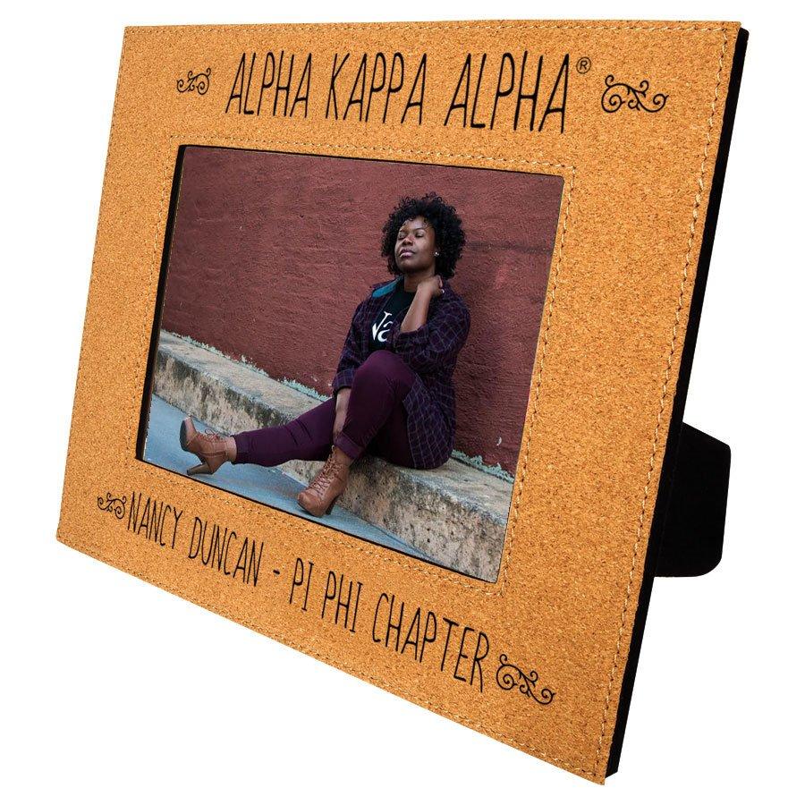 Alpha Kappa Alpha Cork Photo Frame