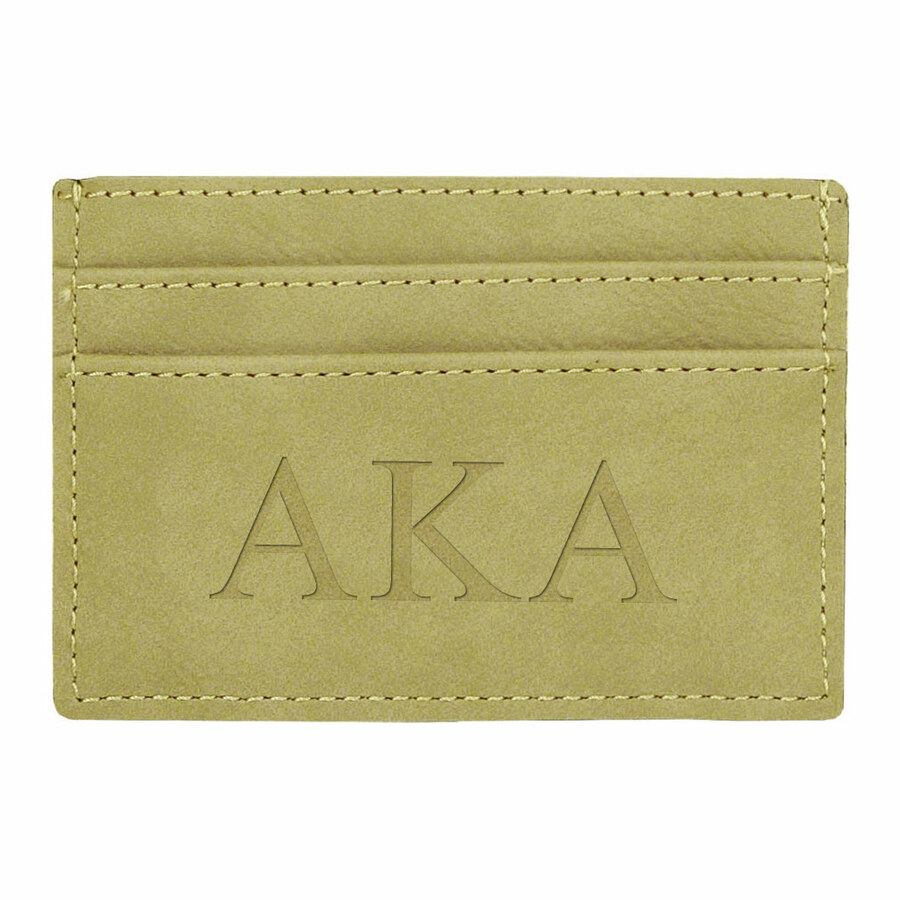 Alpha Kappa Alpha Leatherette Money Clip